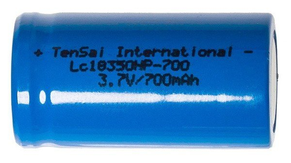 Tensai 18350 IMR Li-mn battery 700mAh 14A - фото